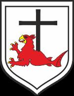 Herb Łeby - Czerwony Gryf