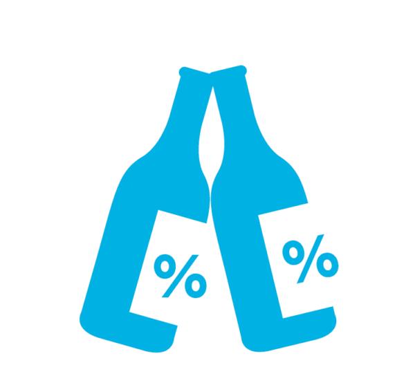 Butelki z procentem