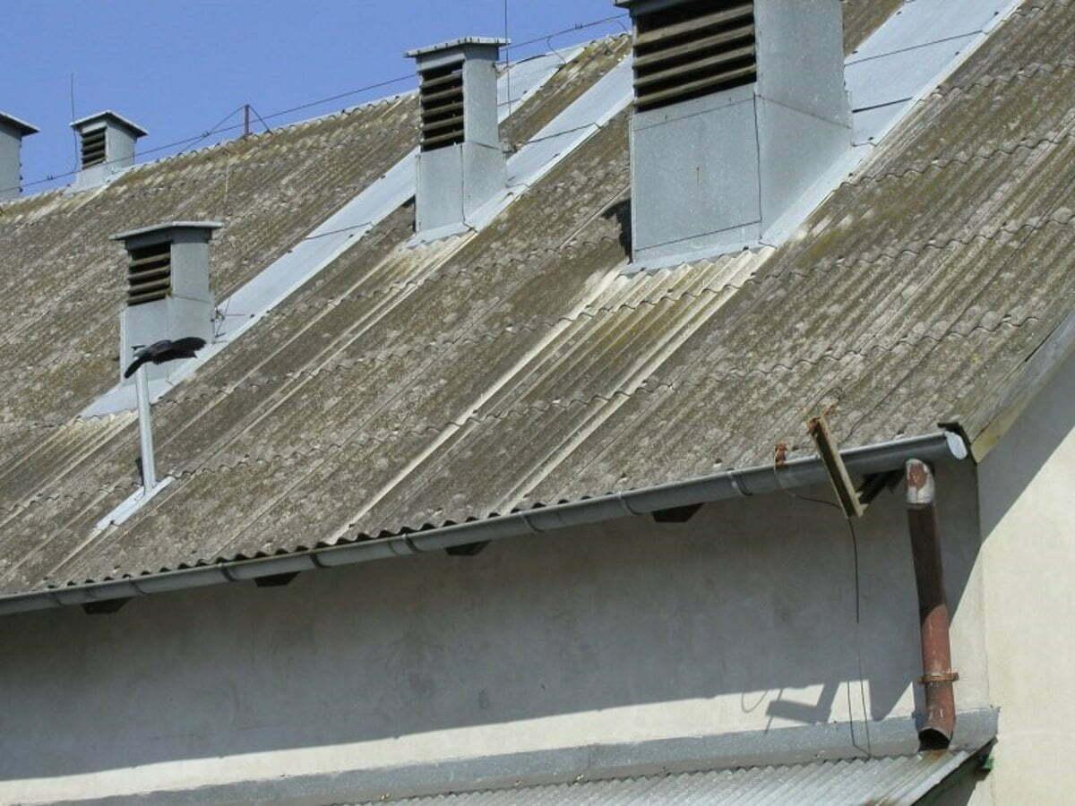 pokrycie dachowe zawierające azbest