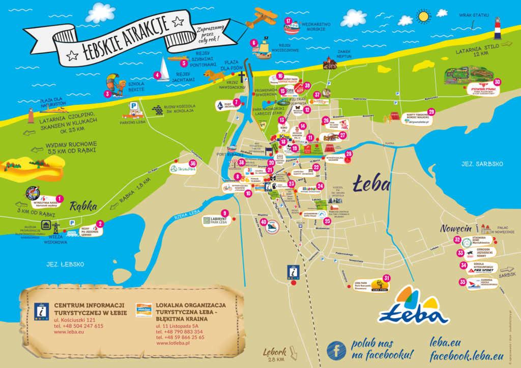 Mapa - Łebskie Atrakcje