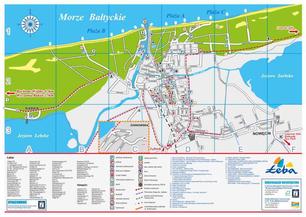 Mapa Łeby