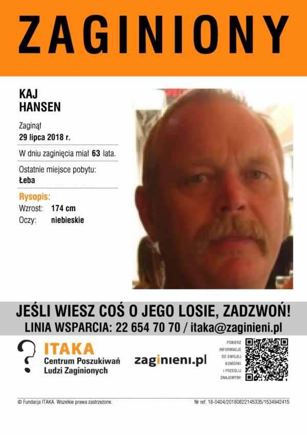 Plakat - osoba zaginiona