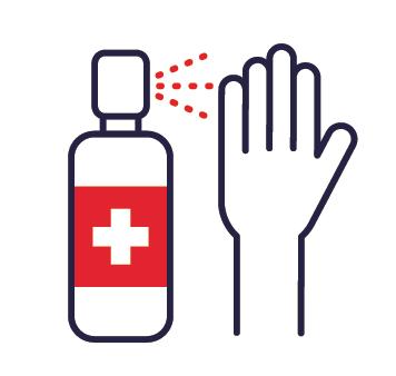 Ikona - dezynfekcja rąk