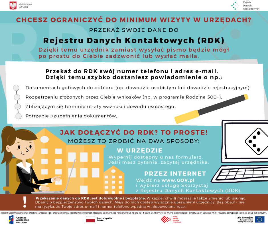 Rejestr Danych Kontaktowych - promocja MC