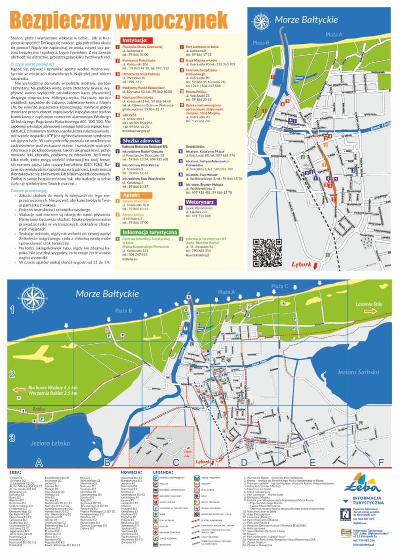 Mapa turystyczna Łeby (edycja 2020)